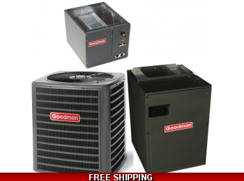 5 Ton 17 SEER Central Air Conditioner System Goodman DSXC/CAPF/MBVC